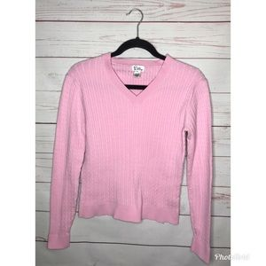 Lilly Pulitzer Pink V neck Sweater Small
